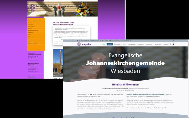 Relaunch der Website der Evangelischen Johanneskirchengemeinde Wiesbaden mit mehr Infos, modern und optimiert für alle Medien