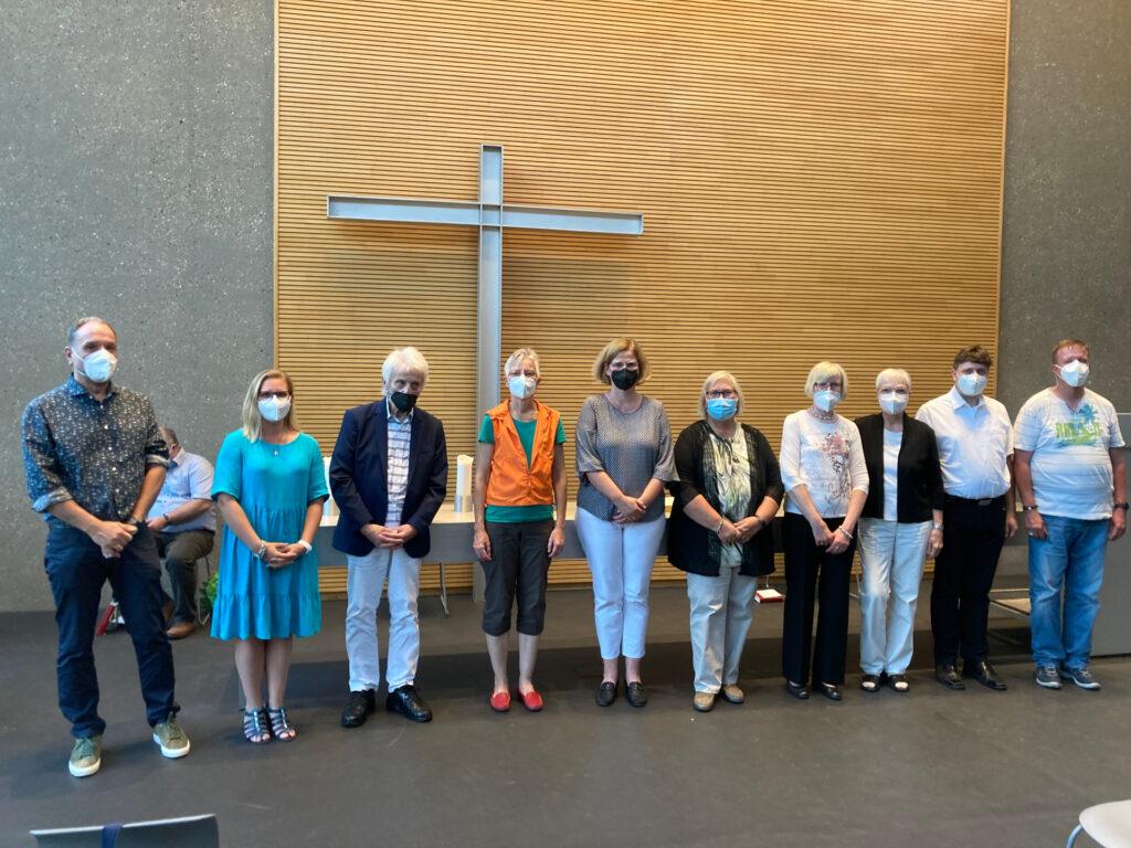 Neuer Kirchenvorstand der Evangelischen Johanneskirche 2021